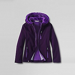 Lands' End - Purple little girls' softshell jacket
