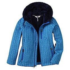 Lands' End - Blue little girls' softshell printed jacket