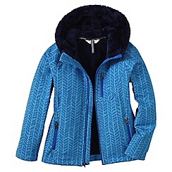 Lands' End - Blue girls' softshell printed jacket