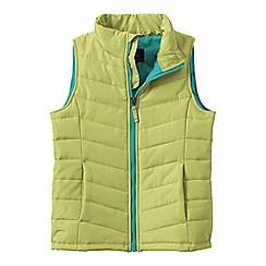 Lands' End - Green little girls' lightweight quilted gilet