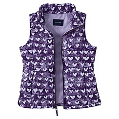 Lands' End - Purple little girls' lightweight gilet print