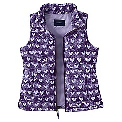 Lands' End - Purple girls' lightweight gilet print