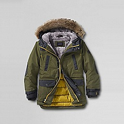 Lands' End - Green little boys' expedition parka