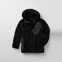 Lands' End - Black little boys' high pile fleece jacket