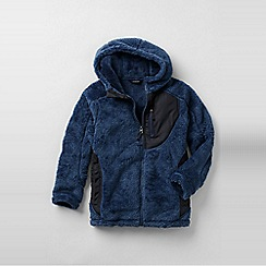 Lands' End - Blue little boys' high pile fleece jacket
