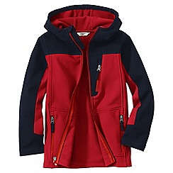 Lands' End - Orange boys' colourblock soft shell jacket