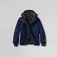 Lands' End - Blue little boys' waterproof squall jacket