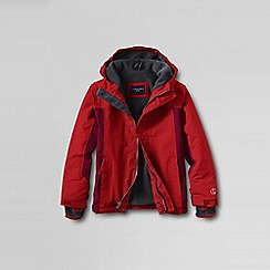 Lands' End - Orange little boys' waterproof squall jacket