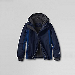 Lands' End - Blue boys' waterproof squall jacket