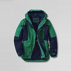 Lands' End - Green little boys' waterproof squall parka