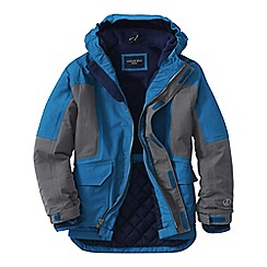 Lands' End - Blue little boys' waterproof squall parka