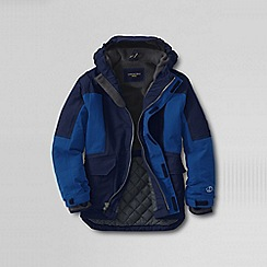 Lands' End - Blue boys' waterproof squall parka