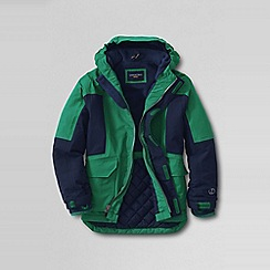 Lands' End - Green boys' waterproof squall parka