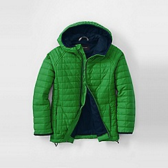 Lands' End - Green little boys' packable insulated jacket
