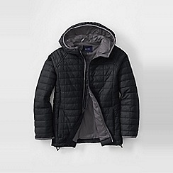 Lands' End - Black boys' packable insulated jacket