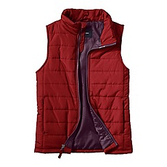 Lands' End - Red boys' lightweight quilted gilet