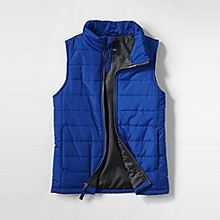 Lands' End - Blue boys' lightweight quilted gilet