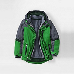 Lands' End - Green little boys' stormer 3 in 1 system parka