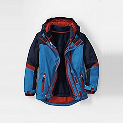 Lands' End - Blue boys' stormer 3 in 1 system parka