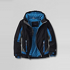 Lands' End - Black little boys' stormer jacket