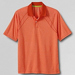 Lands' End - Orange men's short sleeve active mock polo