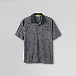 Lands' End - Grey short sleeve active mock polo