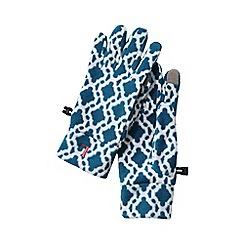 Lands' End - Blue women's pattern fleece 100 gloves