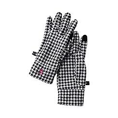 Lands' End - Black women's pattern fleece 100 gloves