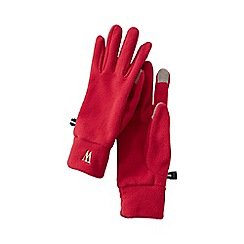 Lands' End - Red women's fleece 100 gloves