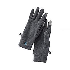 Lands' End - Grey women's fleece 100 gloves
