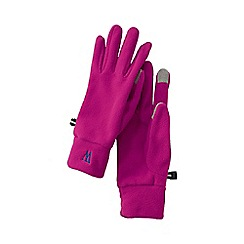 Lands' End - Pink women's fleece 100 gloves