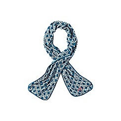 Lands' End - Blue everyday fleece 100 print scarf