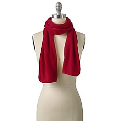 Lands' End - Red women's everyday fleece 100 scarf