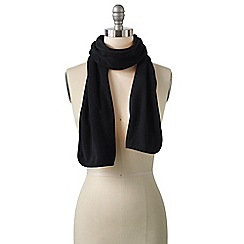 Lands' End - Black women's everyday fleece 100 scarf