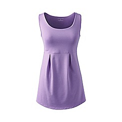 Lands' End - Purple performance pleated vest top