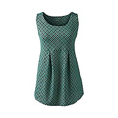 Lands' End - Green print performance pleated vest top