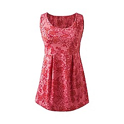 Lands' End - Red print performance pleated vest top