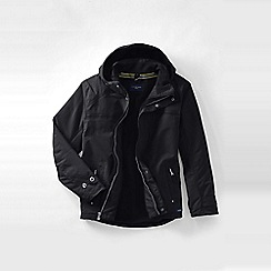Lands' End - Black men's hooded squall jacket