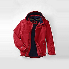 Lands' End - Red hooded squall jacket