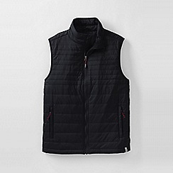 Lands' End - Black men's primaloft packable gilet