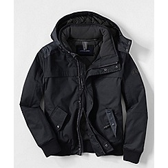 Lands' End - Black men's expedition bomber jacket