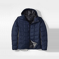 Lands' End - Blue men's regular hooded down jacket
