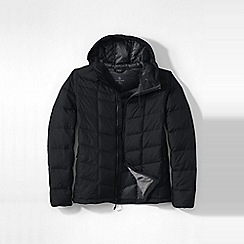 Lands' End - Black men's regular hooded down jacket