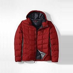 Lands' End - Red men's regular hooded down jacket