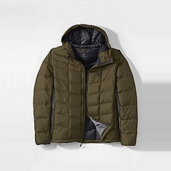 Lands' End - Brown men's regular hooded down jacket