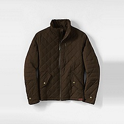 Lands' End - Brown men's primaloft quilted moto jacket