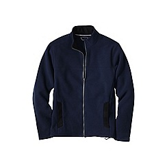 Lands' End - Blue men's regular thermacheck-200 fleece jacket