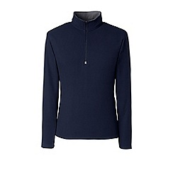 Lands' End - Blue regular thermacheck-100 fleece half-zip pullover