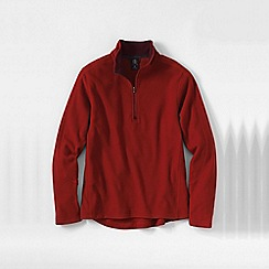 Lands' End - Red men's regular thermacheck-100 fleece half-zip pullover