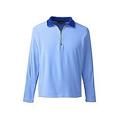Lands' End - Blue regular thermacheck-100 fleece half-zip pullover
